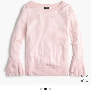 Jcrew ruffle boatneck sweater. New with tags